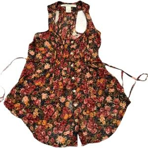 4/$25 American Rag Sleeveless Floral Top